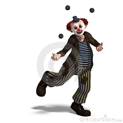 Free Funny Circus Clown With Lot Of Emotions Royalty Free Stock Images - 11309769