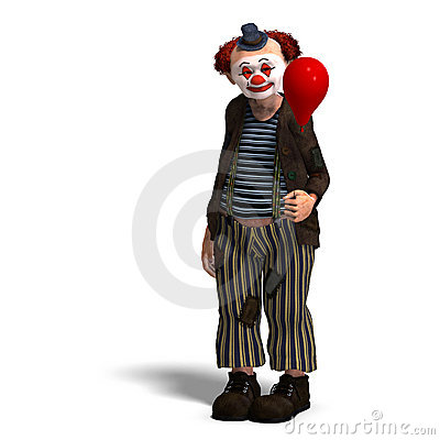 Free Funny Circus Clown With Lot Of Emotions Royalty Free Stock Photography - 11309777