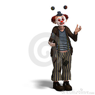 Free Funny Circus Clown With Lot Of Emotions Royalty Free Stock Photos - 11351248