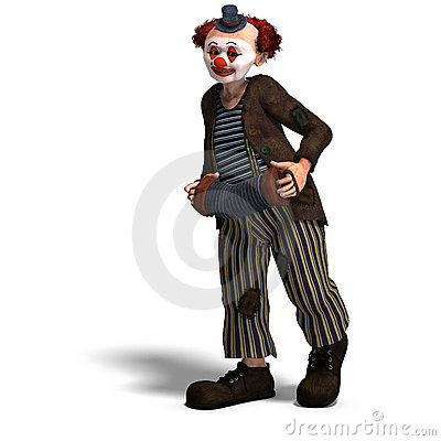Free Funny Circus Clown With Lot Of Emotions Royalty Free Stock Photos - 11381018