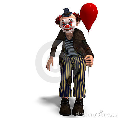 Free Funny Circus Clown With Lot Of Emotions Stock Photography - 11381052