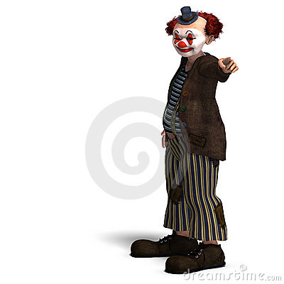 Free Funny Circus Clown With Lot Of Emotions Stock Photos - 11381063