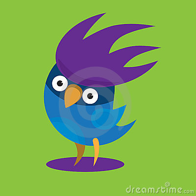 Funny cirrus bird