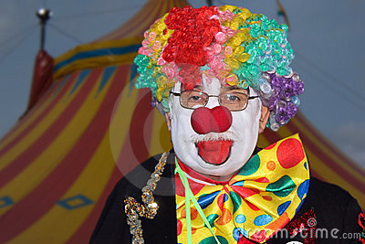 Funny clown of Shriners Circus Editorial Photography
