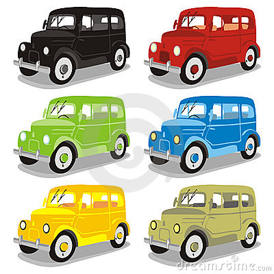 Funny colored cars