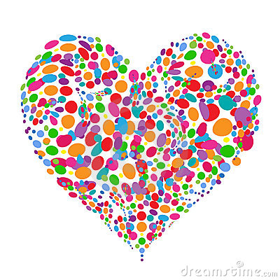 Funny Colorful Heart Shape Design Stock Images - Image: 15953664
