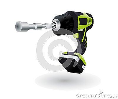 Funny jumping cordless drill