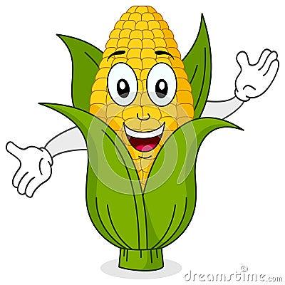 Funny Corn Cob Smiling Character