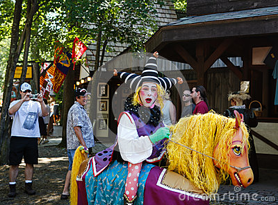 Funny Court Jester Maryland Renaissance Festival Editorial Image