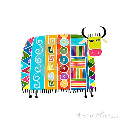 Free Funny Cow, Sketch For Your Design Royalty Free Stock Images - 144927329