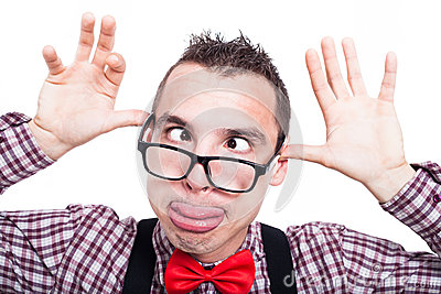 Funny Cross-eyed Nerd Face Royalty Free Stock Images ...