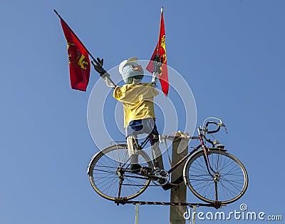 Funny Cyclist Mascot Editorial Stock Photo
