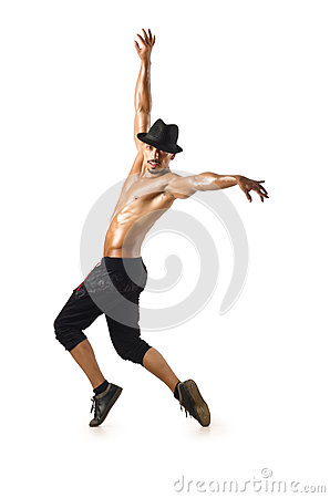 Funny dancer isolated