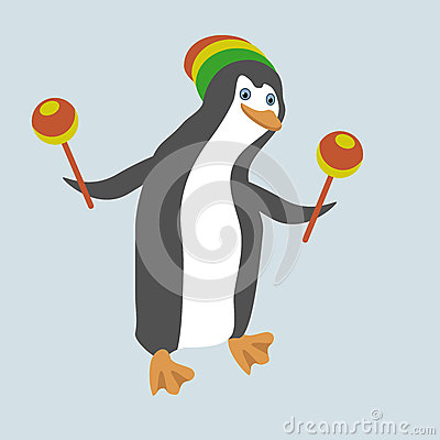 Funny dancing penguin