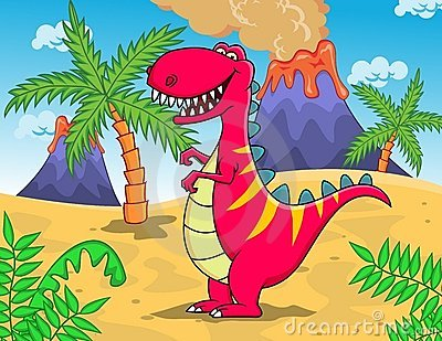 Funny dinosaur T-rex cartoon