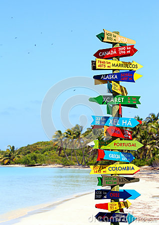 Funny Direction Signpost Stock Photo Image 50099454