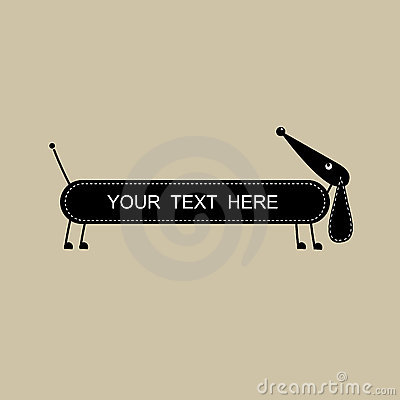 Funny dog, frame with place for your text