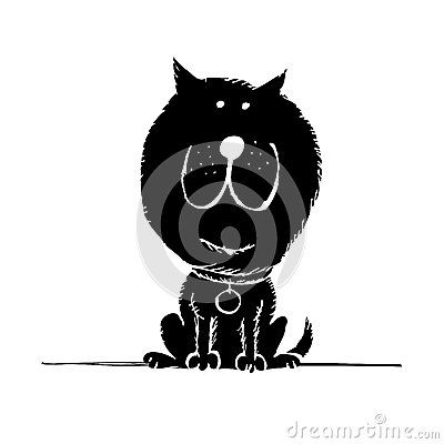 Funny dog sketch for your design