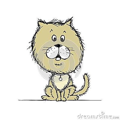 Funny dog sketch for your design