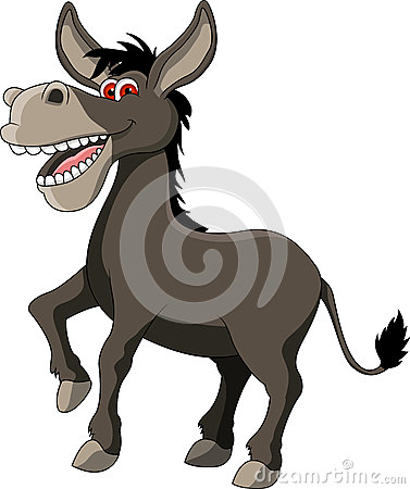 Free Funny Donkey Cartoon Royalty Free Stock Image - 27220636