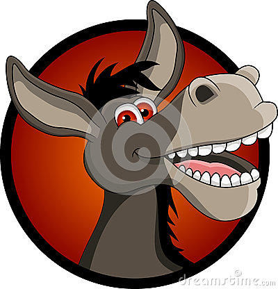 Free Funny Donkey Head Cartoon Royalty Free Stock Image - 27220646