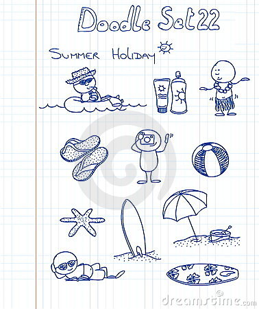 Free Funny Doodle Set 22 Royalty Free Stock Image - 17596926