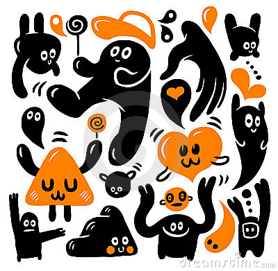 Funny doodles set