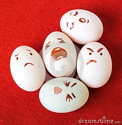 funny eggs emotion mood - photo #1