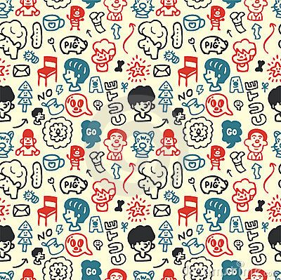 Funny element seamless pattern