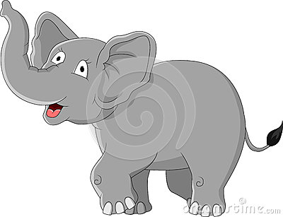 Funny elephant cartoon