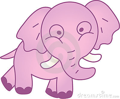 Funny elephant - vector illustration