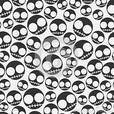Emo seamless pattern