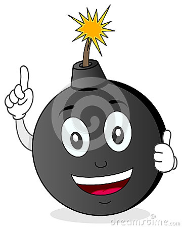 Funny Exploding Bomb Character