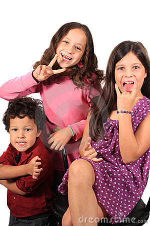 Funny face and gesture kids