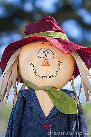 Funny face scarecrow
