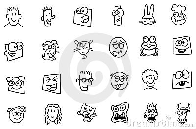 Funny faces from cartoons