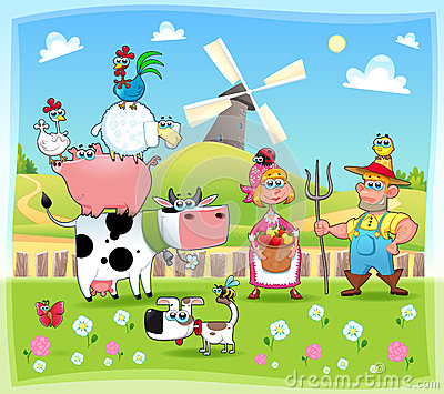 Funny farm family.