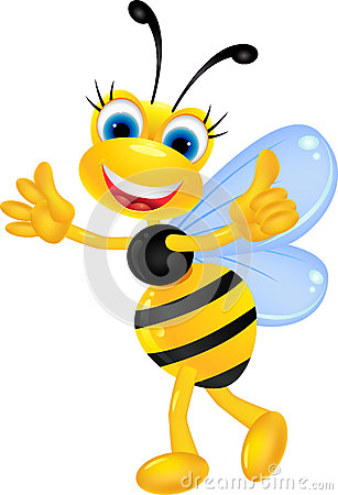 Free Funny Female Bee Cartoon Stock Photo - 27397130