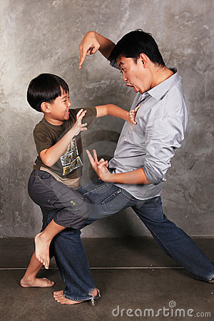 Royalty Free Stock Photography Funny Fighting