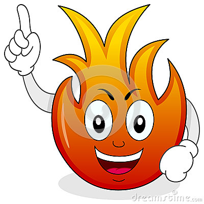 Funny Fire Flame Cartoon Character