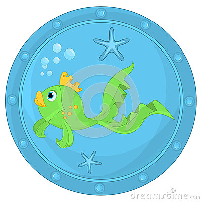 Free Funny Fish In Porthole Royalty Free Stock Photography - 48586287