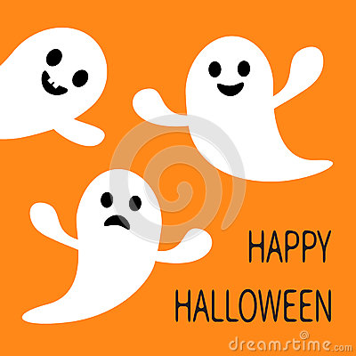 Free Funny Flying Ghost. Smiling And Sad Face With Tooth. Happy Halloween. Greeting Card. Cute Cartoon Character. Scary Spirit. Baby Co Royalty Free Stock Photos - 76557478