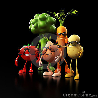 Funny food characters