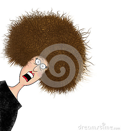 Free Funny Frazzled Woman With Electrified Hair Stock Photography - 47885862