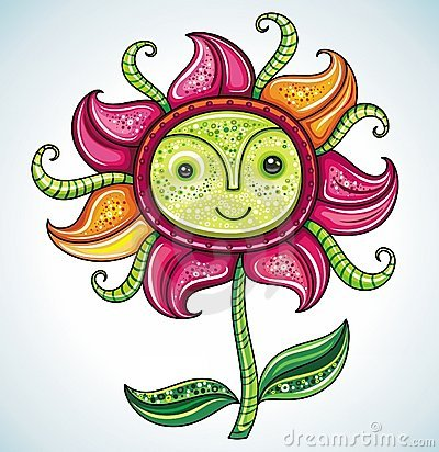 Funny friendly Eco flower,