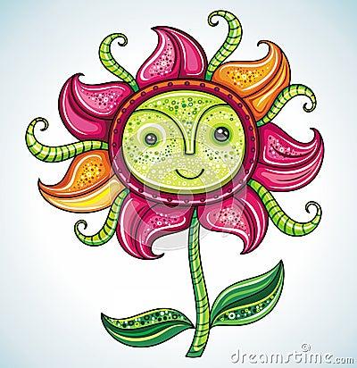 Funny friendly Eco flower,