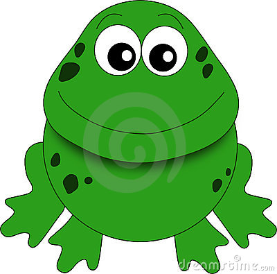A funny frog