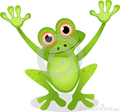 Free Funny Frog Cartoon Royalty Free Stock Images - 27048629