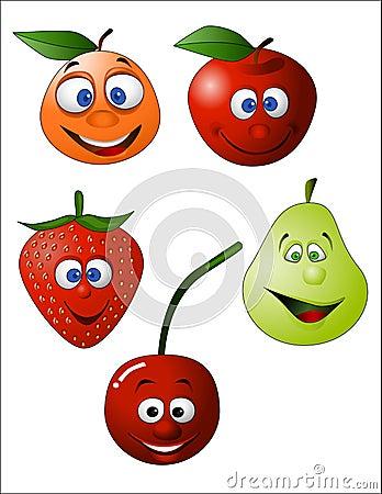 Funny fruit illustration