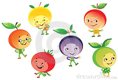 Funny fruit people